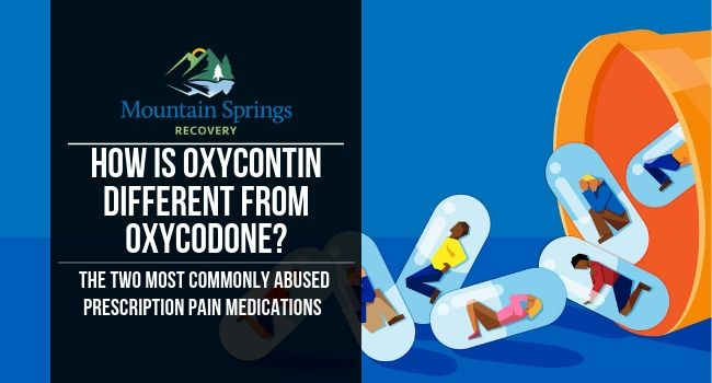 How Is OxyContin Different From Oxycodone?